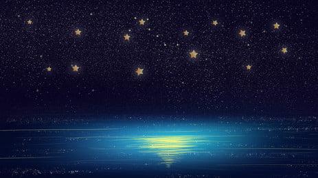 lãng mạn ánh trăng nền quảng cáo đại dương, Nền Quảng Cáo, Đại Dương, Ngôi Sao Ảnh nền