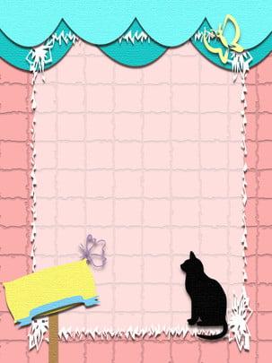 lãng mạn màu hồng xanh mèo origami micro nền stereo , Lãng Mạn, Mèo, Màu Hồng Ảnh nền