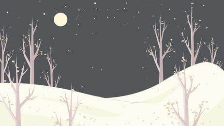 浪漫冬季山峰廣告背景, 廣告背景, 浪漫, 雪山 背景圖片