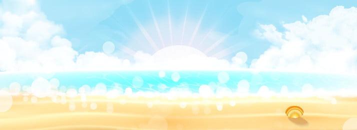 海辺の日差しの中で美しい夢のバナーの背景, 夢, 10代の少女, 美しさ 背景画像