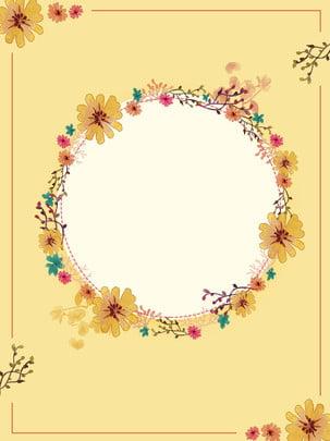 簡約秋季花卉背景 , 簡約, 花, 花卉 背景圖片