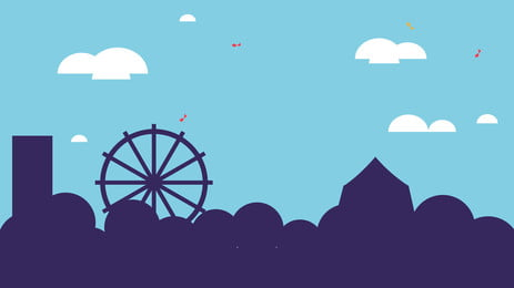 Simple Cartoon Amusement Park Background Design Park Background,illustration Background,advertising, Background, Background, Material, Background image