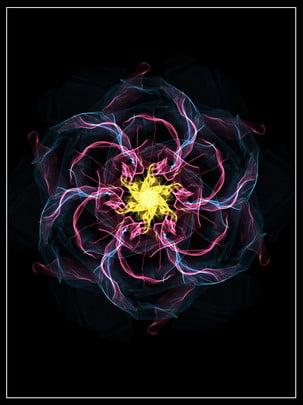 simples cor colorido legal lindo sonho flor efeito de luz material fundo , Simples, Cor, Colorido Imagem de fundo