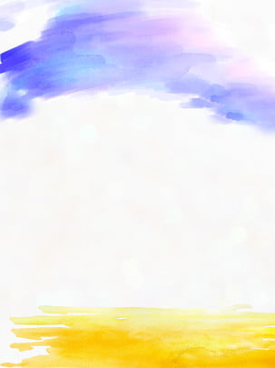 Simple Fresh Watercolor Beach Background, Watercolor, Beach, Fresh Background, Background image