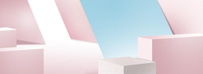 hình học ba chiều đơn giản đồ trang sức làm đẹp điểm nền màu hồng, Hình Học, Ba Chiều, Đa Giác Ảnh nền