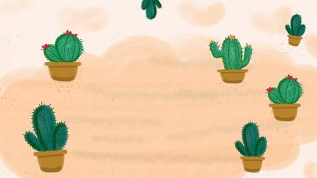シンプルな緑のサボテンウチワサボテンの背景素材 グリーン サボテン ウチワサボテン 背景画像