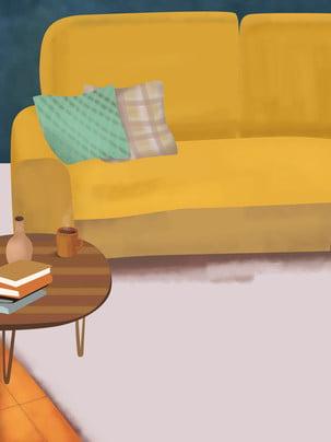 Đơn giản phòng khách sofa bàn trà nền giải trí , Phòng Khách, Bàn Trà, Sofa Ảnh nền
