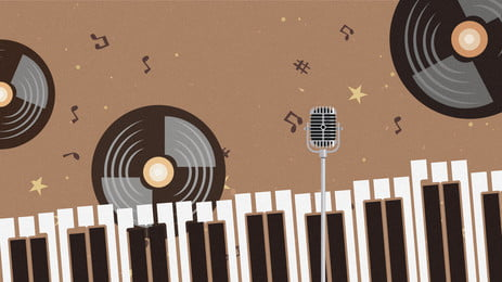 fundo de publicidade teclado piano simples, Fundo Marrom, Disco, Music Imagem de fundo