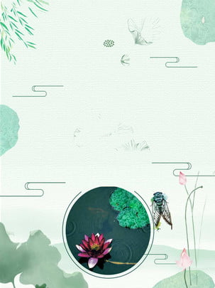 Đơn giản minh họa nền sen mùa hè Mùa Hè Hoa Hình Nền