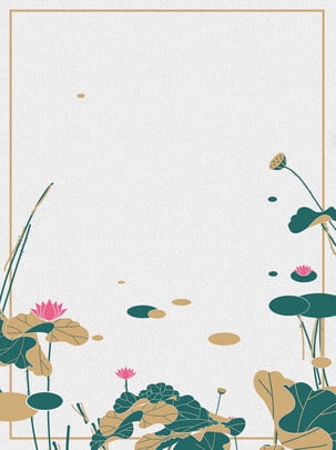 Minh họa hoa sen mùa hè đơn giản Đơn Giản Mùa Hình Nền