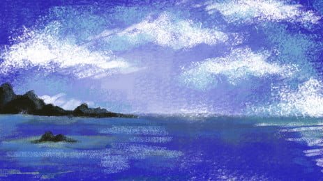 Cielo lejano montaña agua superficie azul acuarela fondo Cielo Montaña lejana Superficie del Del Agua Azul Imagen De Fondo