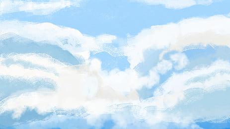 Sleepwalking Wonderland Blue Sky and White Clouds Universal Background Material Niebieskie niebo i Baneru Materiał Transparent Obraz Tła