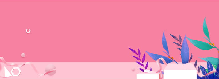 small clear pink banner background, Three-dimensional Space, Sense Of Perspective, Household Products Background image