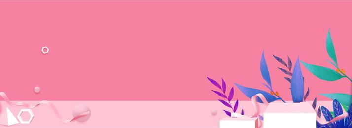 작은 분명 핑크 배너 배경, 3 차원 공간, 원근감, 가정 용품 배경 이미지