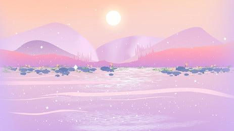 bahan latar belakang gunung bersalji di bawah matahari yang indah, Gunung Salji, Gunung Yang Jauh, Adegan Salji imej latar belakang
