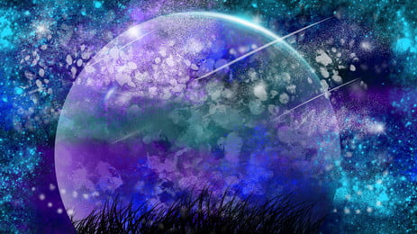 Starry Color Fantasy Background Design, Illustration Background, Fantasy Background, Colorful Background, Background image