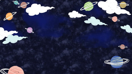 Starry fantasy hành tinh minh họa nền đơn giản Bầu trời đầy Hoạt đầy Nền Hình Nền
