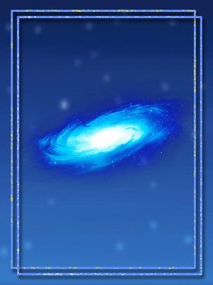 Starry galaxy hand drawn border theme background Thiên Hà Ngôi Hình Nền