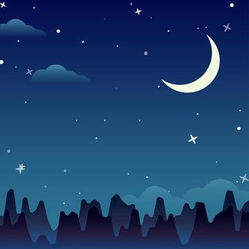 星空の背景 , 星空の背景, 背景素材, 月 背景画像