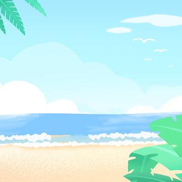 bãi biển bãi biển mùa hè lạnh dẫn đến xe thiết kế nền bản đồ chính , Bản đồ Chính Nền, Lá, Mùa Hè Ảnh nền