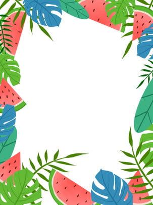 Mùa hè tươi tay vẽ nền dưa hấu Mùa Hè Tươi Hình Nền