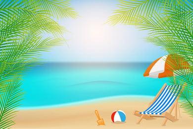 Mùa hè tươi mát bên bờ biển mát mẻ du lịch vật liệu nền Nền mùa hè Bên Mùa Hè Tươi Hình Nền