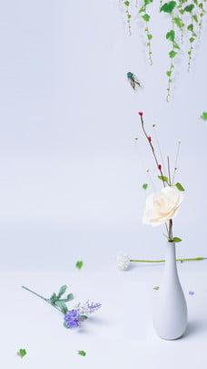 summer literary flower morning background material , Elegant, Elegant, Literary Background Background image