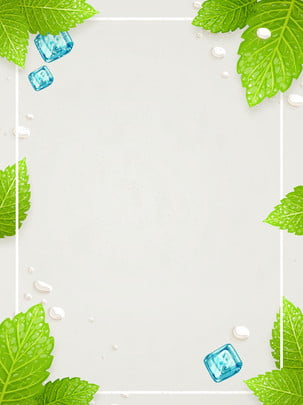 summer mint ice cubes creative background , Ice Cube, Mint, Cool Background image