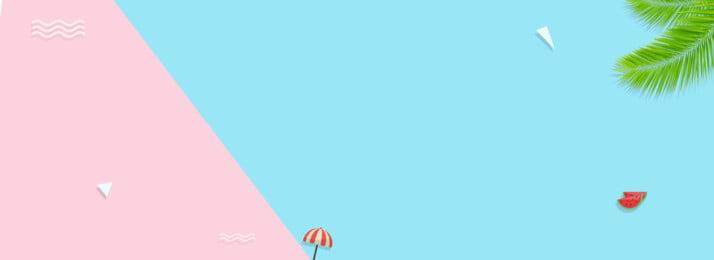 夏の小さなクリアバナー, 夏, 小さい明快さ, かっこいい 背景画像