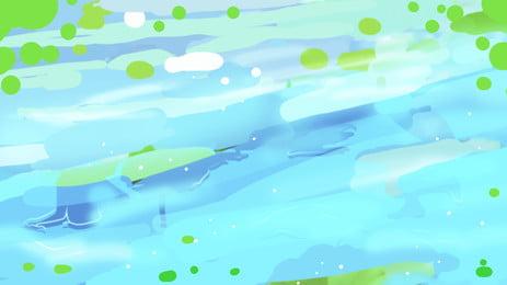 Summer Swimming Cartoon Fresh Background Design Background,fresh Background,poster Background,banner, Background, Advertising, Background, Background image