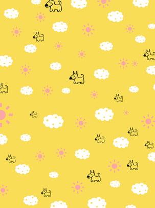 Mặt trời phim hoạt hình con chó con Phim hoạt hình Đứa Bé Phim Cảnh Hình Nền