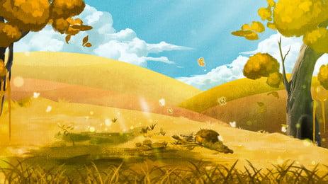 nền quảng cáo rừng nắng, Nền Quảng Cáo, Tươi, Sườn đồi Ảnh nền