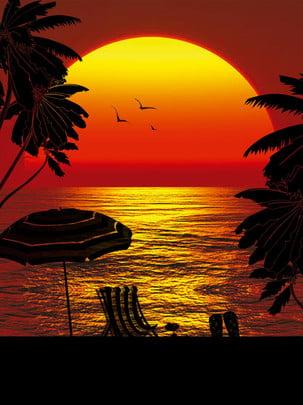 hoàng hôn dưới biển tập tin nguồn poster , Đỏ, Mặt Trời, Hoàng Hôn Ảnh nền