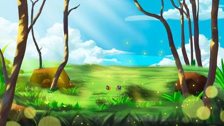 sunshine forest advertising background, Advertising Background, Fresh, Forest Background image