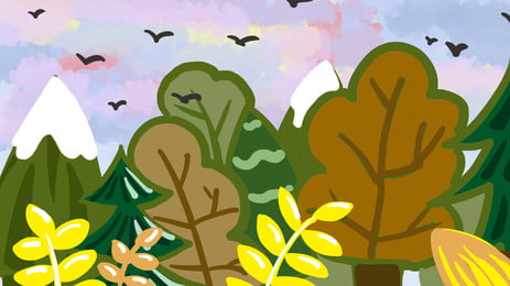 andorinha colorido folhas caricatura fundo em multicolored céu, Multicolorido, Sky, Andorinha Imagem de fundo