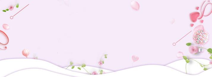 Ilustração de fundo de banner rosa romântico Tanabata Tanabata Romântico Pink Dia dos namorados Rose Namorados Rose Dos Imagem Do Plano De Fundo