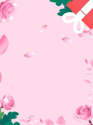 तनबाता रोज गिफ्ट गर्ल पाउडर की पंखुड़ियां , तानाबाता, वेलेंटाइन का दिन, गुलाब पृष्ठभूमि छवि