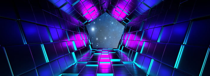 Tech Wind Geometry Dream Starry Sky Background Design Sky,dream,technology,science And Technology,fashion,enterprise,design,future,pursue,poster,light, Shadow, Gradient, Geometric, Background image