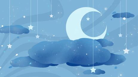 teenage hearts stars moon quảng cáo nền, Ngôi Sao, Mặt Trăng, Đèn Chùm Ảnh nền