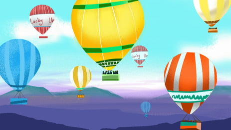 Travel Sky Hot Air Balloon Background Design Background,hot Air Balloon,sky,cartoon,hand, Painted, Travel Sky Hot Air Balloon Background Design, Background, Background image