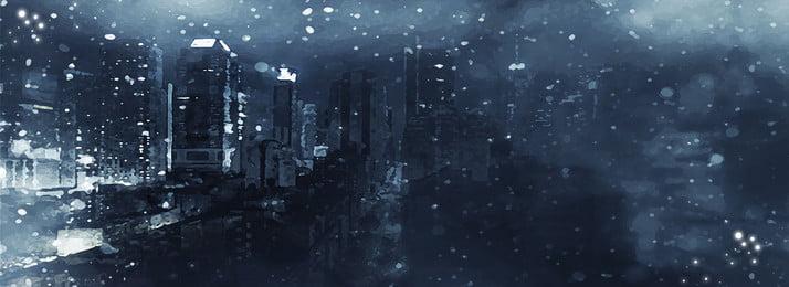 शहरी बर्फ दृश्य व्यापार उदार न्यूनतम पृष्ठभूमि, हिम दृश्य, व्यापार, उदार पृष्ठभूमि छवि