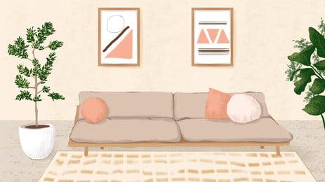 गर्म और सरल कमरे में रहने वाले विज्ञापन पृष्ठभूमि, विज्ञापन की पृष्ठभूमि, लिविंग रूम, गृहस्थी पृष्ठभूमि छवि