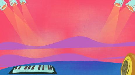 暖かい歓声の舞台広告の背景, ステージ, 広告の背景, 軽い 背景画像