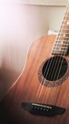 溫馨吉他柔和早安背景素材 , 吉他, 早安背景, 溫馨 背景圖片