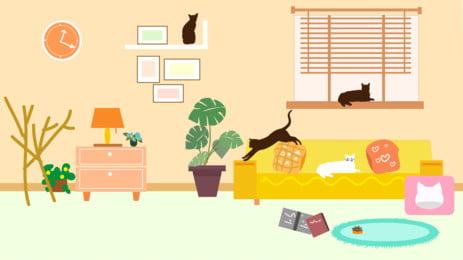 warm living room home background design, Warm Background, Mashup Background, Living Room Background Background image