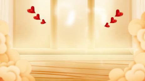 暖かい愛の休日の背景 祭り 愛してる 赤い愛 背景画像