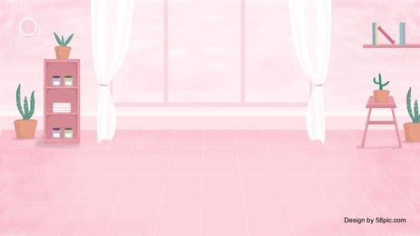暖かい塗られたピンクの家の背景デザイン ピンク 漫画 可愛い 暖かい 塗装済み 家の背景 バナーの背景 暖かい塗られたピンクの家の背景デザイン ピンク 漫画 背景画像