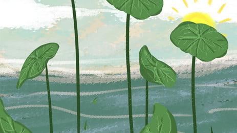 水秋処暑節気の蓮池の背景素材 Pspd背景 二十四節気 アイデアの背景 背景画像