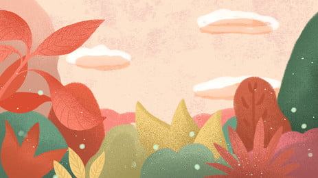 水彩花林banner背景素材 背景デザイン Pspd背景素材 創意バンク 背景画像