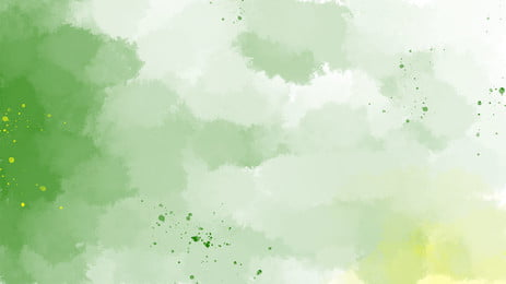 Watercolor Gradient Green Ppt Background, Watercolor, Gradient, Ins Wind, Background image